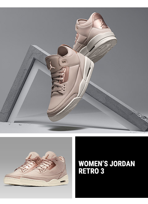bb1363dae3f305 Footaction   Women s Jordan Retro 3 In Particle Beige – Available ...