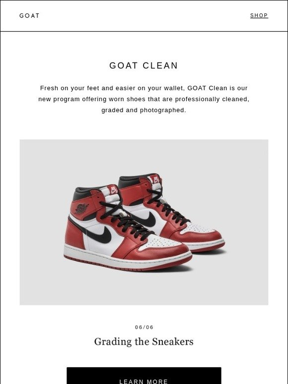 GOAT: Introducing GOAT Clean | Milled