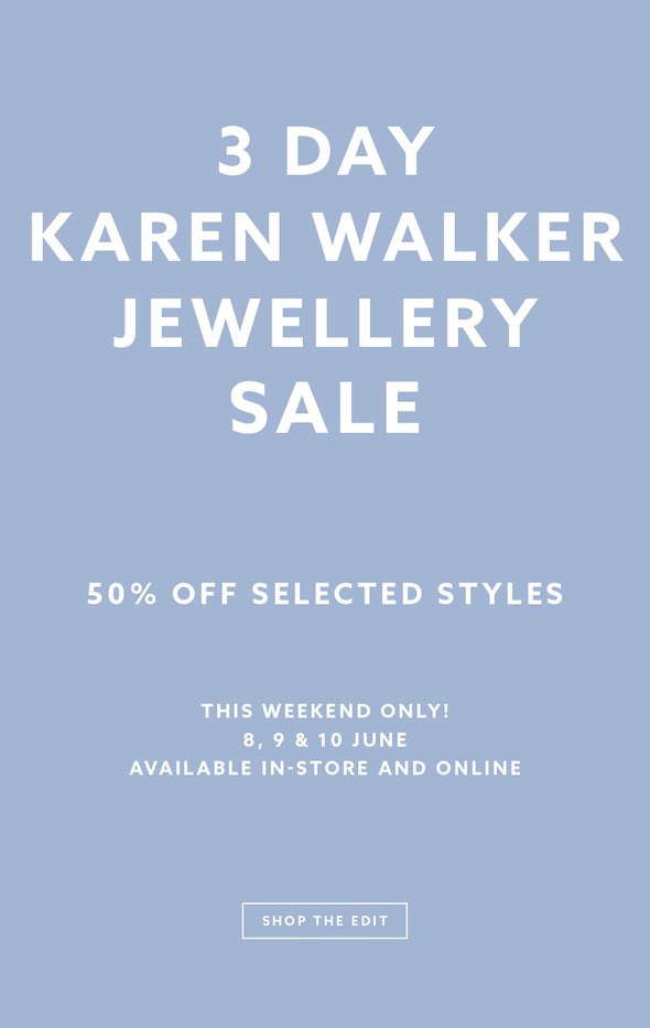 ae743b2f2db3 Karen Walker  50% off selected jewellery for 3 days only!