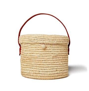 Sense Studio Mini Round Canasta Handbag $316