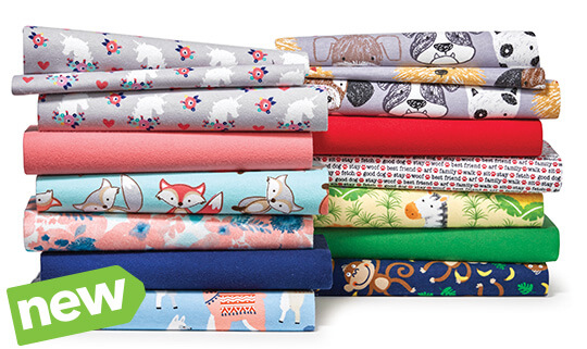 NEW! Cozy Flannel Solids and Snuggle Flannel Prints.