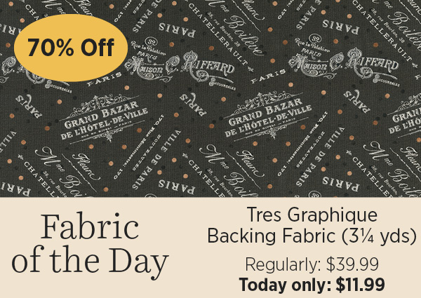 Tres Graphique backing fabric