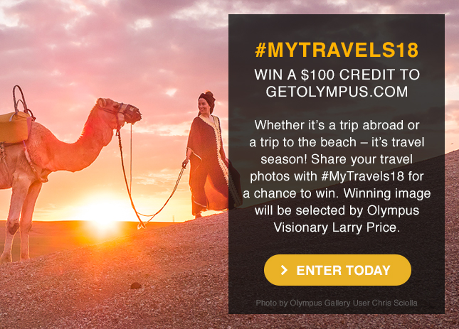 Share your travel photos with #MyTravels18 for a chance to win.