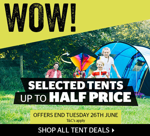 WOW - Selected Tents Up To Half Price