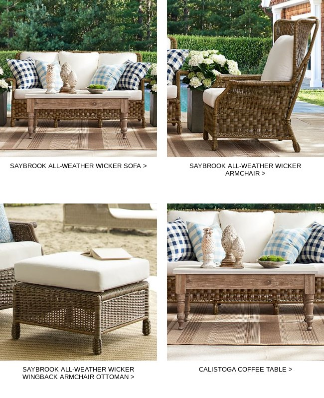 Saybrook All Weather Wicker Sofa