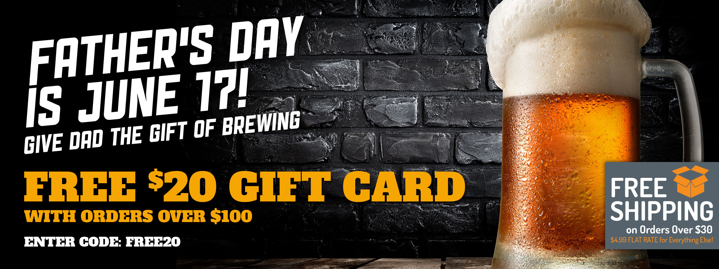 Spend $100, get a free $20 gift card.