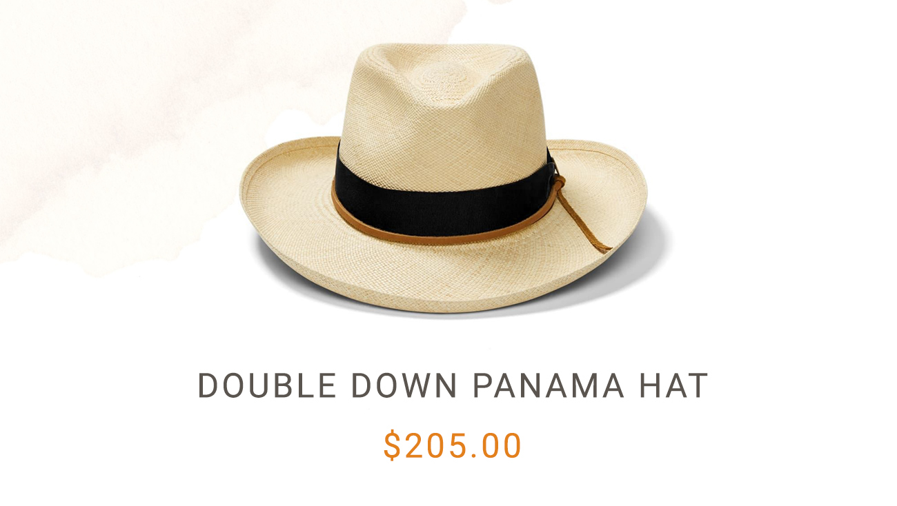 Dobule Down Panama Hat