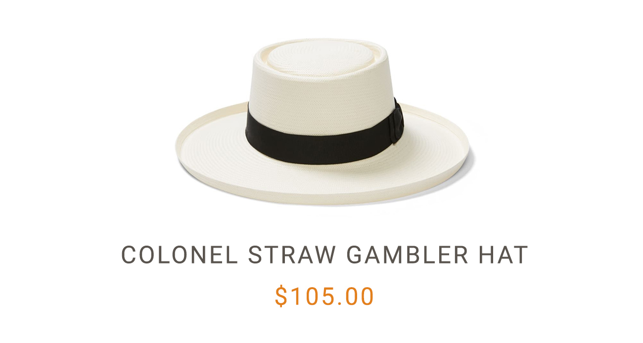 Colonel Straw Gambler Hat
