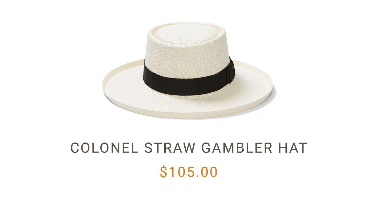 Colonel Straw Gambler Hat