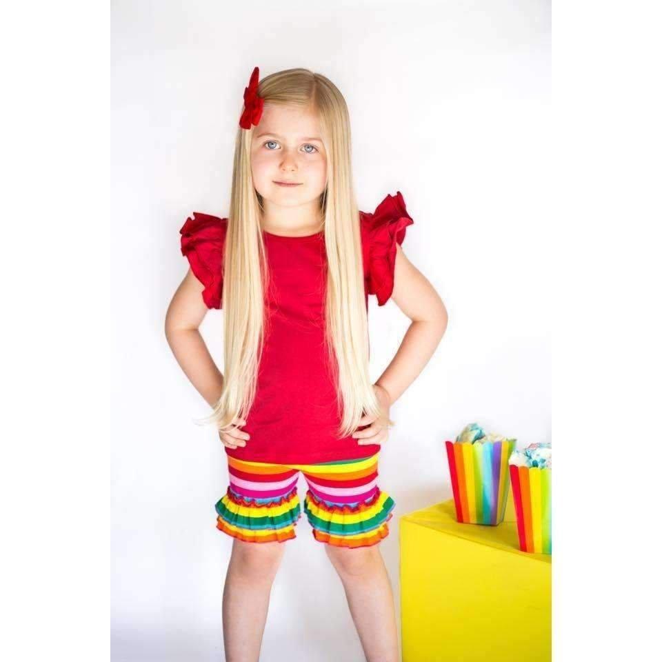 Rainbow Ruffle Shorts