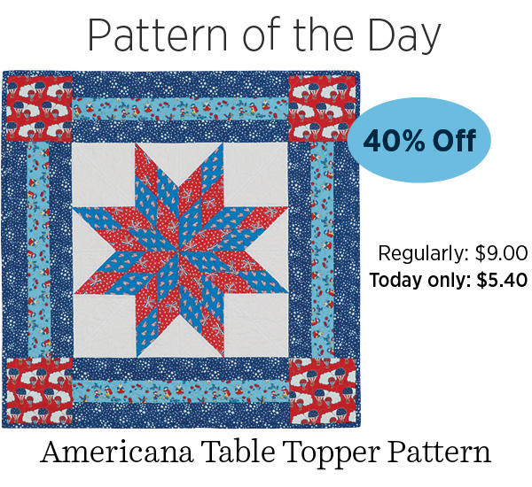 Americana Table Topper 40% off