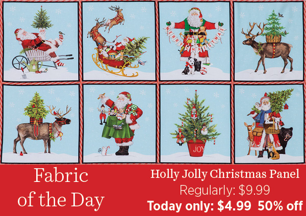 Holly Jolly Panel 50% off