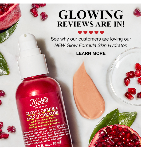 GLOWING REVIEWS ARE IN! - See why our customers are loving our NEW Glow Formula Skin Hydrator - LEARN MORE