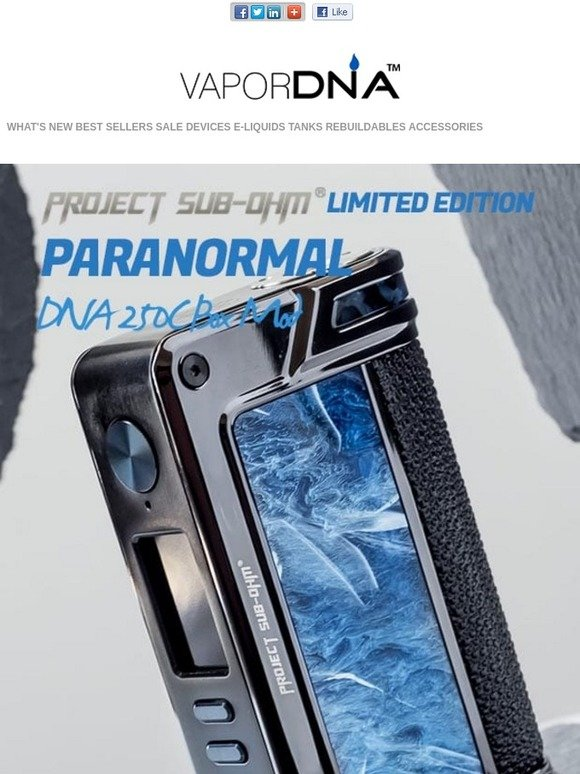 VaporDNA com: Project Sub-Ohm Limited Edition Paranormal