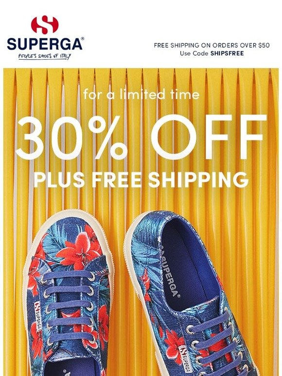 c8e9e7f63f9 Superga  Today Only! Get Paired Up with 30% off