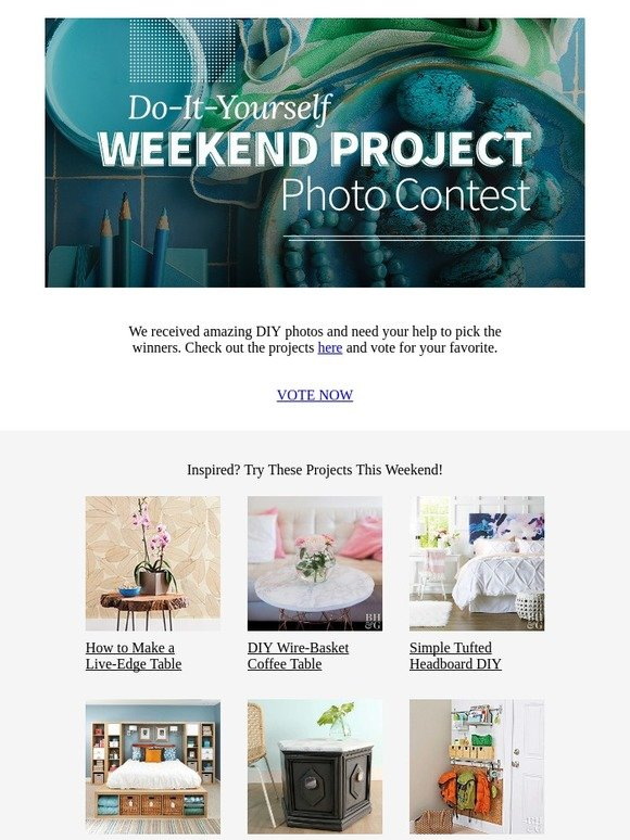 Better Homes And Gardens Diy Weekend Project Photo Contest