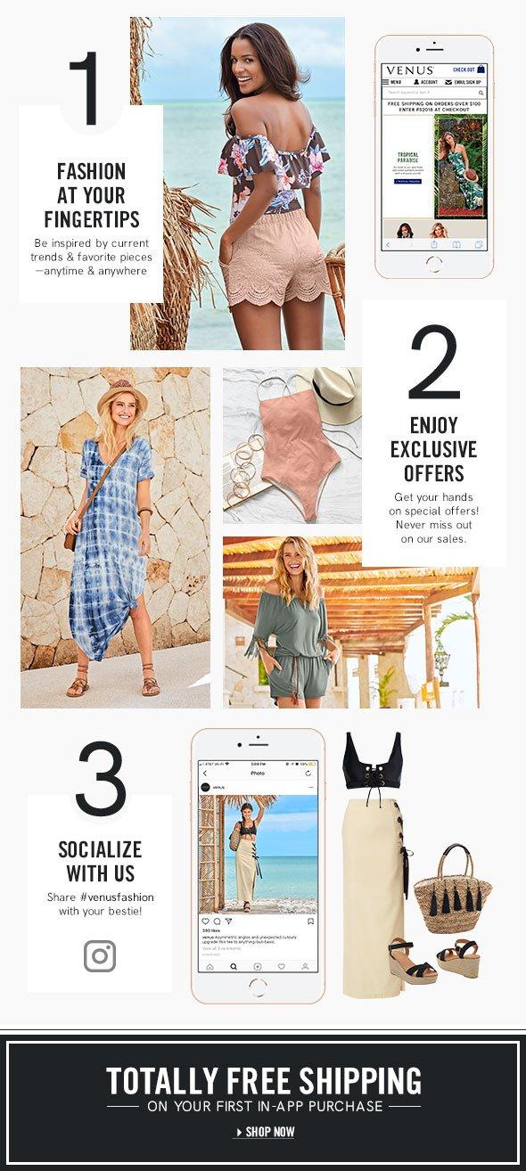 VENUS Fashion: VENUS goes where you go with the new APP