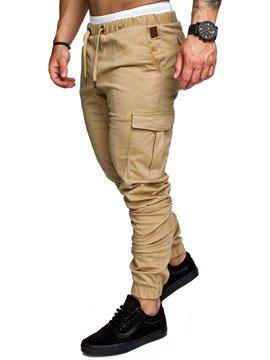 f4856ceb79d Ericdress Plain Lace Up Pocket Mens Casual Pants  18.39 Shop Now