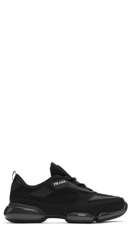 Prada - Black Sport Wedge Sneakers