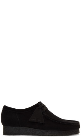 Clarks Originals - Black Suede Low Wallabee Moccasins