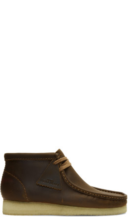 Clarks Originals - Brown Leather Wallabee Boots