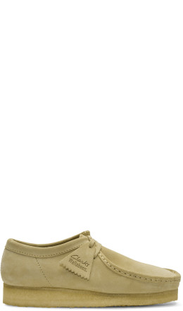 Clarks Originals - Beige Low Suede Wallabee Moccasins