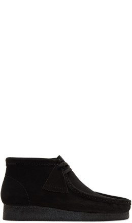 Clarks Originals - Black Suede Wallabee Boots
