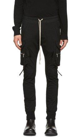 Rick Owens - Black Jog Cargo Pants