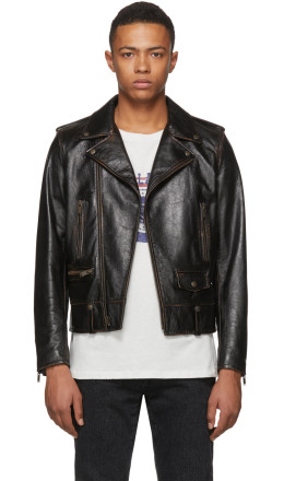 Saint Laurent - Black Leather '1971' Jacket