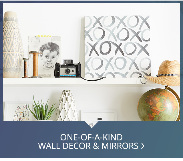 One of a kind wall dcor and mirrors.
