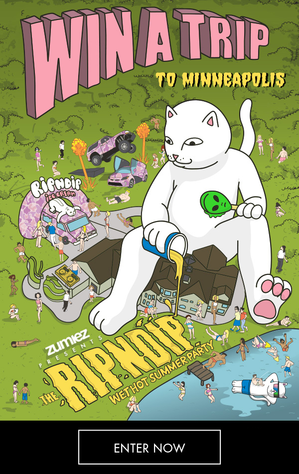 Win A Trip To Minneapolis to Party with RIPNDIP - Only From The Zumiez Stash
