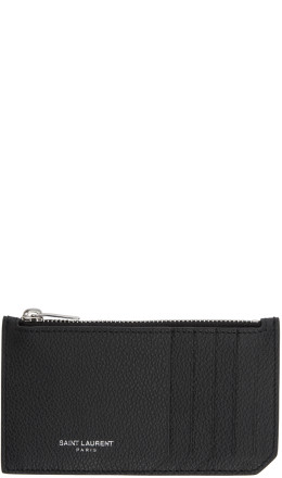 Saint Laurent - Black Zipped Fragments Card Holder