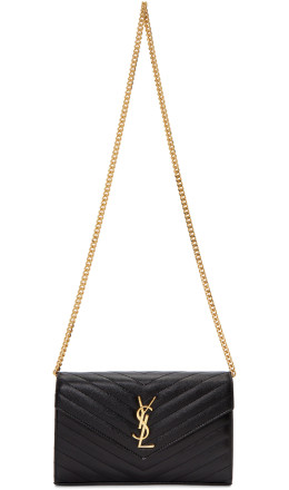 Saint Laurent - Black Medium Wallet Shoulder Bag