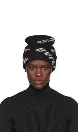 Balenciaga - Black Jacquard Logo Beanie