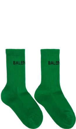 Balenciaga - Green New Logo Tennis Socks