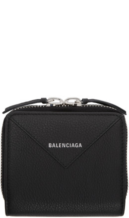 Balenciaga - Black Square Papier Zip Around Wallet