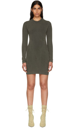 YEEZY - Grey Crewneck Jersey Dress