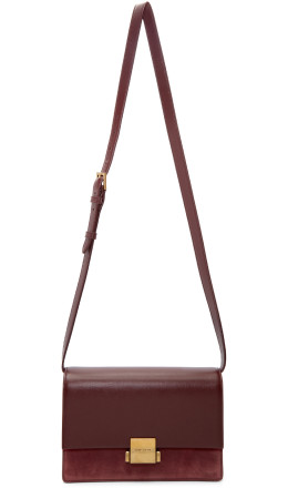 Saint Laurent - Burgundy Medium Bellechasse Satchel