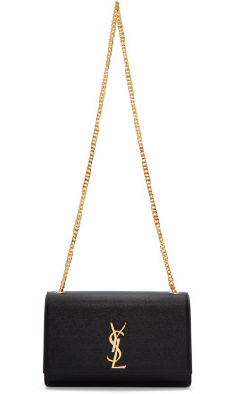 Saint Laurent - Black Medium Kate Chain Bag
