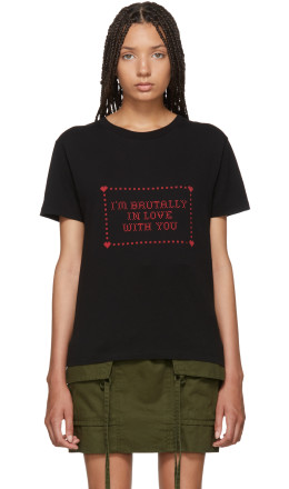 Saint Laurent - Black 'I'm Brutally In Love With You' T-Shirt