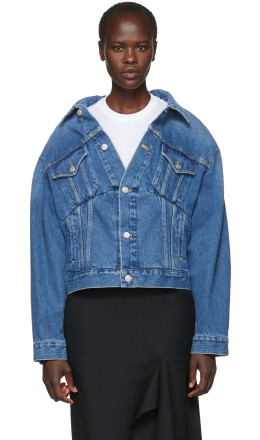 Balenciaga - Blue Denim Swing Jacket