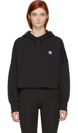 adidas Originals - Black Cropped Hoodie