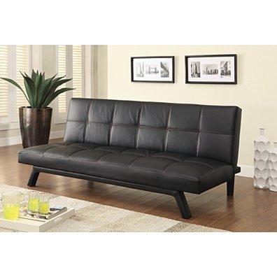 Contemporary Futon/Sofa Bed, Black