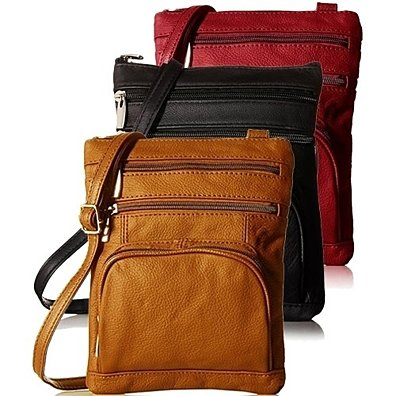 Super Soft Leather Crossbody Bag in 4 Colors