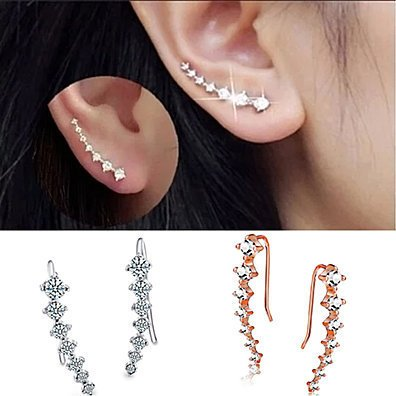 7-Crystal Swarovski Ear Hook Earrings