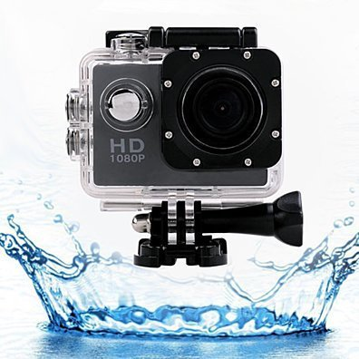 Waterproof Action Sports Camera & 18-PC Accessory Pack