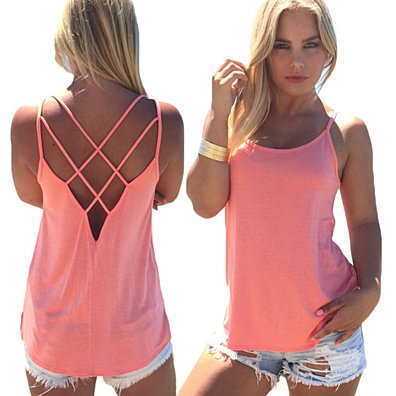 Sleeveless Crisscross Back Top in 3 Colors
