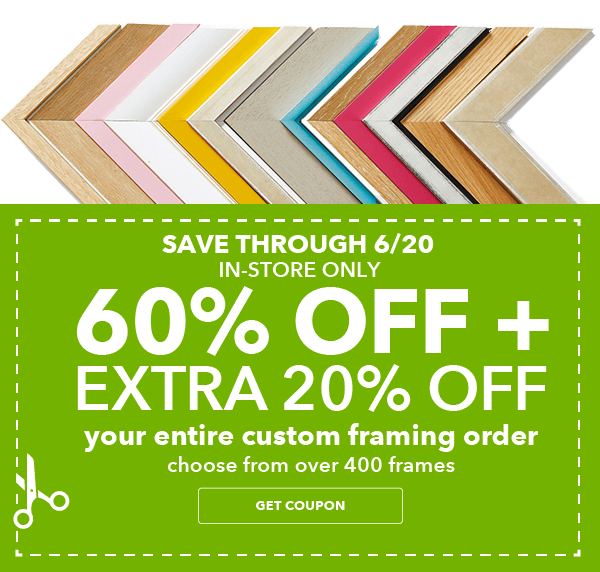 Custom Framing Order. Choose from over 400 Frames.