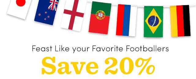 Save 20% ALL Australian, German, Japanese & British Food
