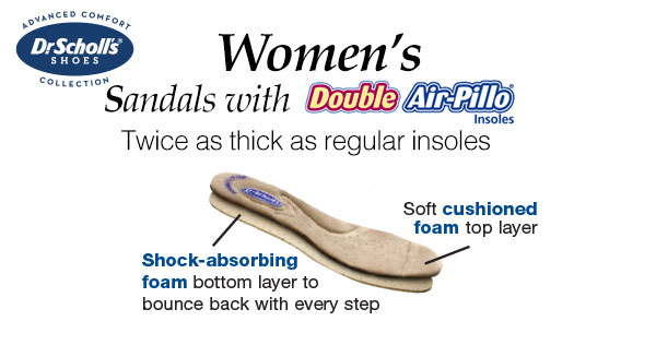 Women's Sandals with Duble Air Pillo Insoles